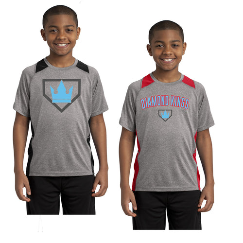 Youth -  Colorblock Contender Perforamnce Tee - Diamond Kings