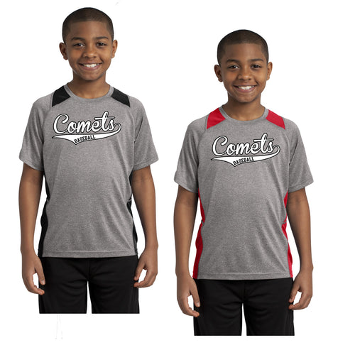 Youth -  Colorblock Contender Perforamnce Tee -Comets Baseball