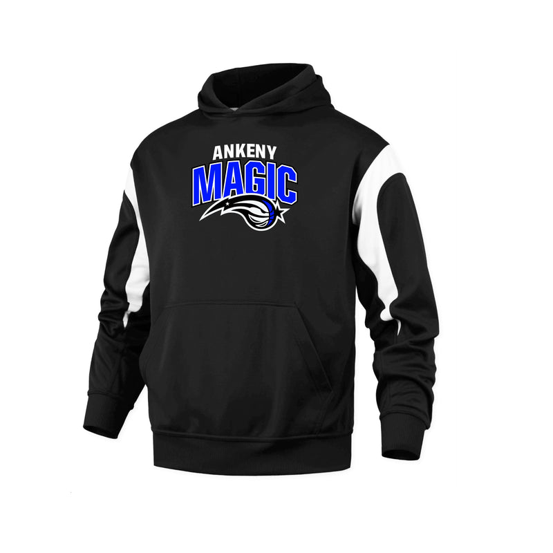 Youth - Color Panel Performance Hoodie - Ankeny Magic