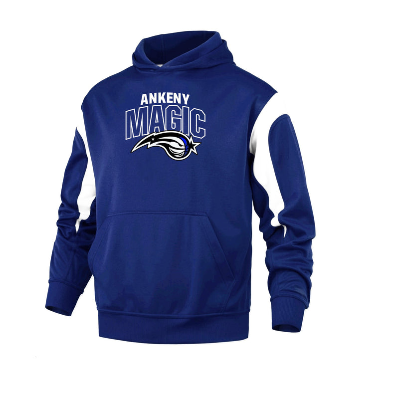 Adult - Color Panel Performance Hoodie - Ankeny Magic