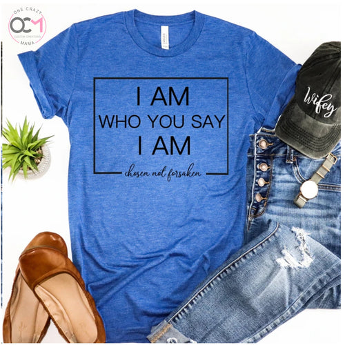 I am who you say I am - Unisex Triblend Tee