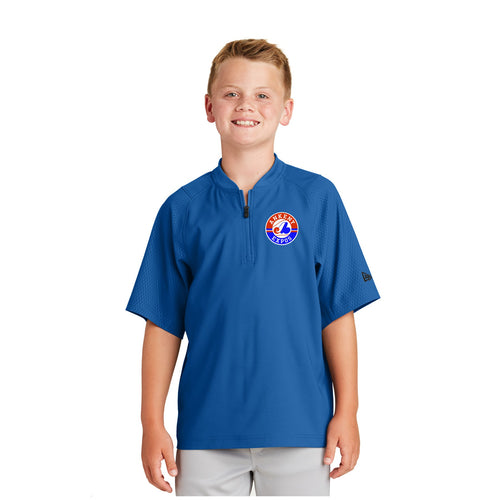 Youth - Cage Short Sleeve 1/4-Zip Jacket - Ankeny Expos