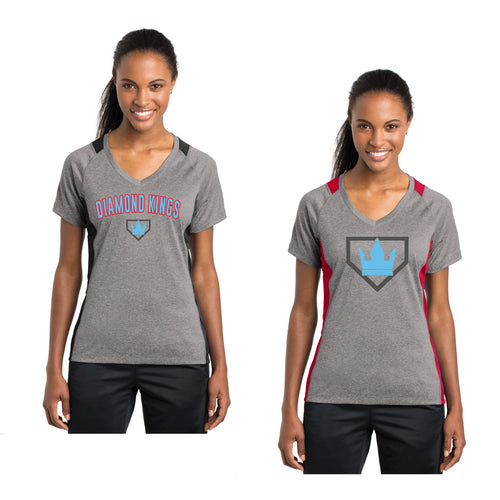 Adult - Ladies Colorblock Contender™ V-Neck Tee - Diamond Kings