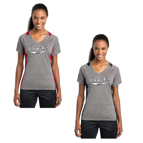Adult - Ladies Colorblock Contender™ V-Neck Tee - Comets