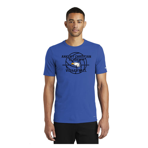 Nike Mens Dri-FIT Cotton/Poly Scoop Neck Tee - Ankeny Christian Academy