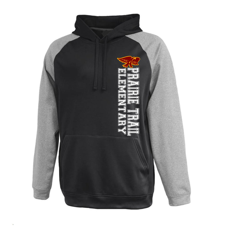 Adult - Unisex  Interceptor Polyester Fleece Hoodie- Prairie Trail Elementary