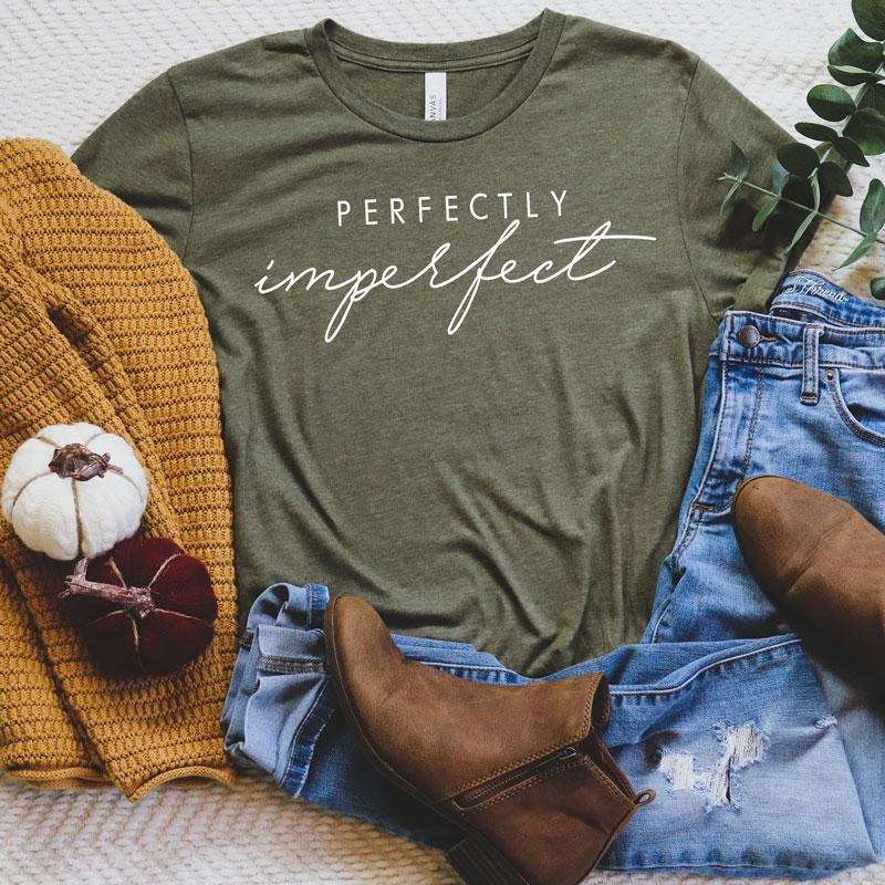 Perfectly Imperfect - Unisex Triblend Tee (You pick color of tee)