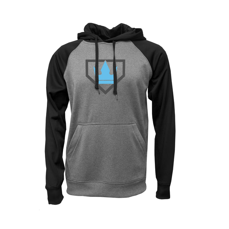 Adult - Raglan Hooded Performance Fleece - Diamond Kings