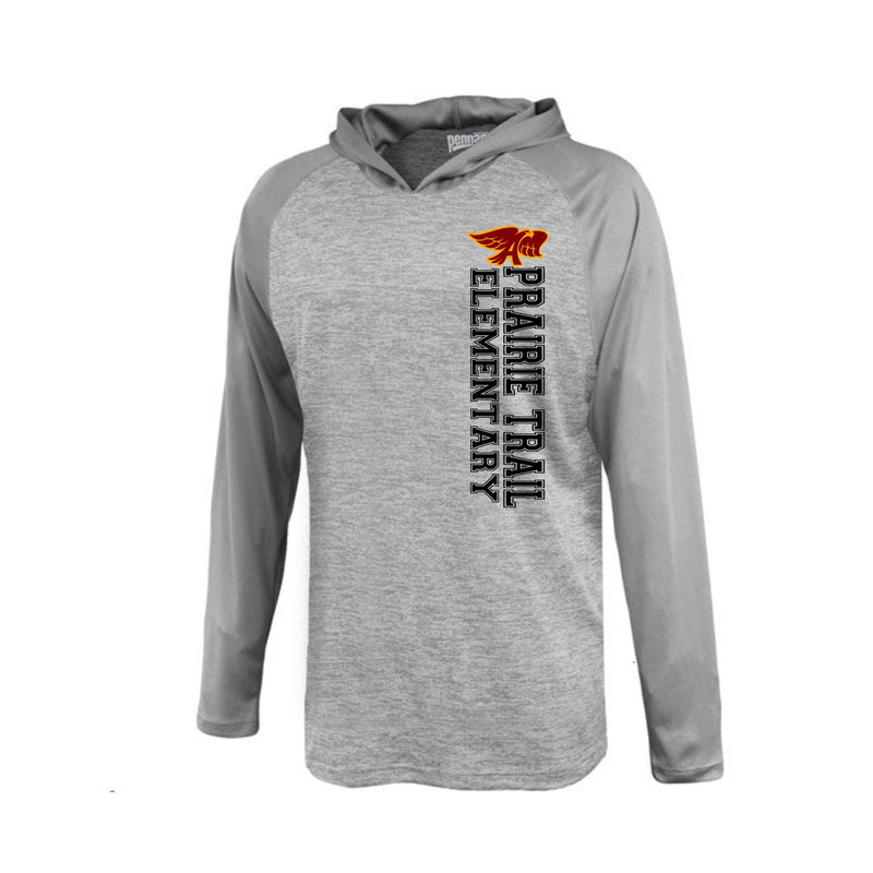 Youth - Stratos LS performance Hooded Tee - Prairie Trail Elementary