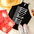 Rock and Roll - Ladies Flowy High-Neck Tank