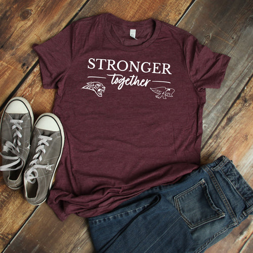 Stronger Together - Unisex Triblend Tee (Hawks/Jags)