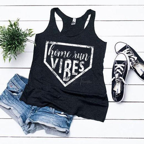 Home Run Vibes - Ladies Racerbck Tank