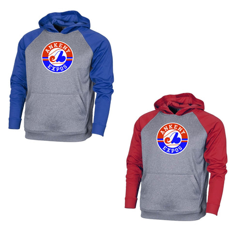 Youth - Raglan Hooded Fleece - Expos