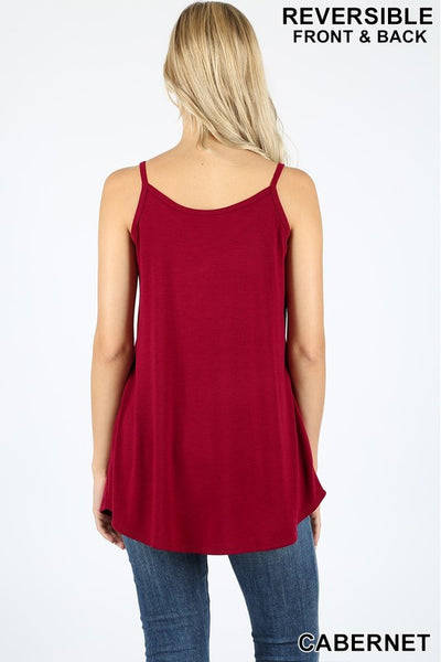 FRONT AND BACK REVERSIBLE SPAGHETTI CAMI