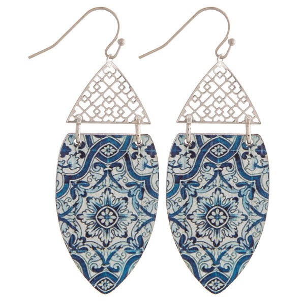 FILIGREE AND WOOD EARRINGS