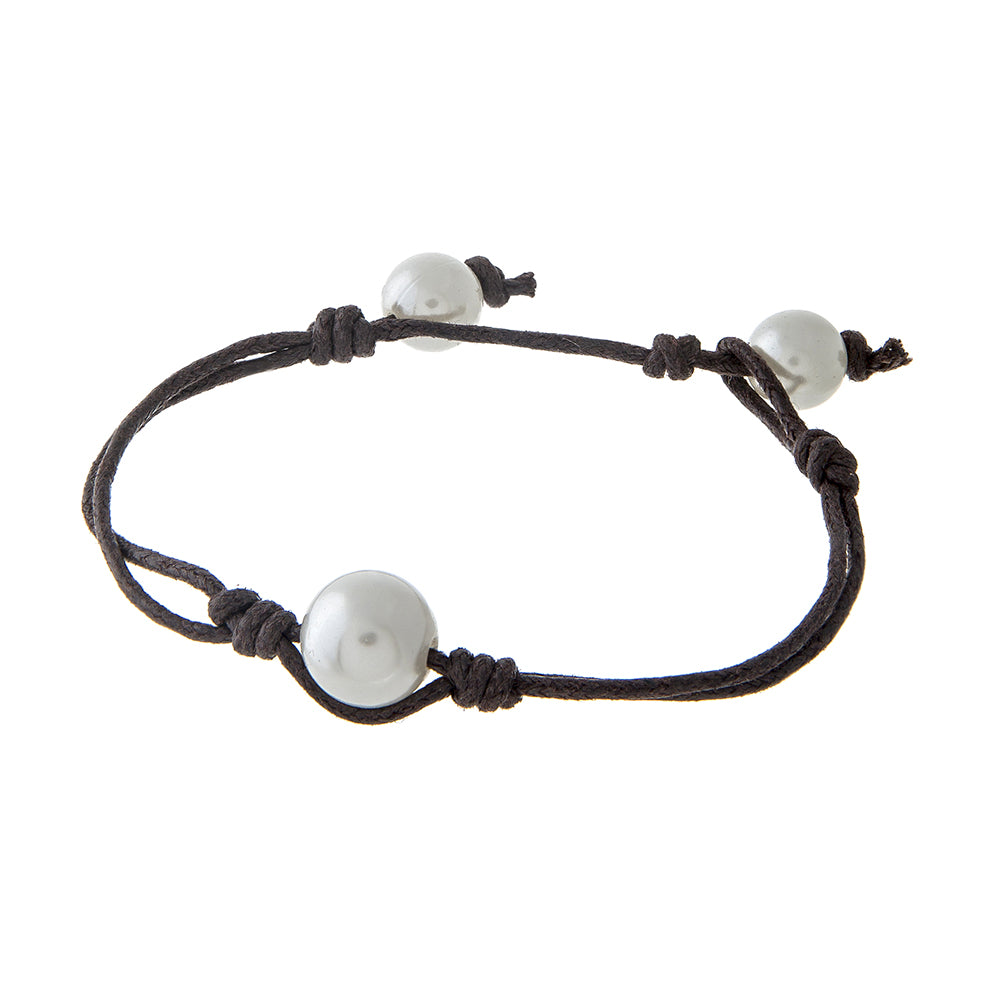 PEARL AND CORD BRACELET