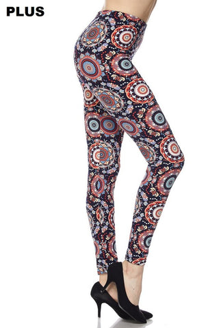 CIRCLE PRINT LEGGINGS- PLUS