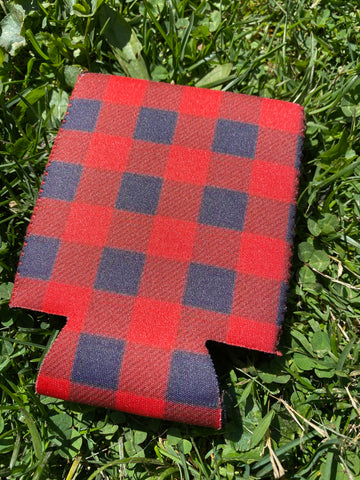 RED AND NAVY PLAID