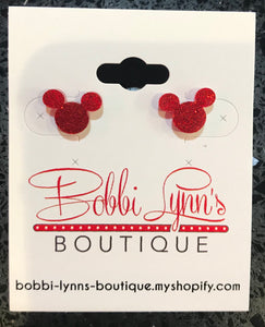 MICKEY MOUSE GLITTER STUDS