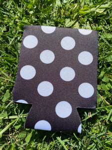 BLACK AND WHITE POLKA DOT