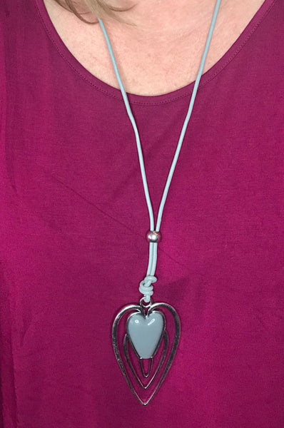 CORDED HEART PENDANT NECKLACE