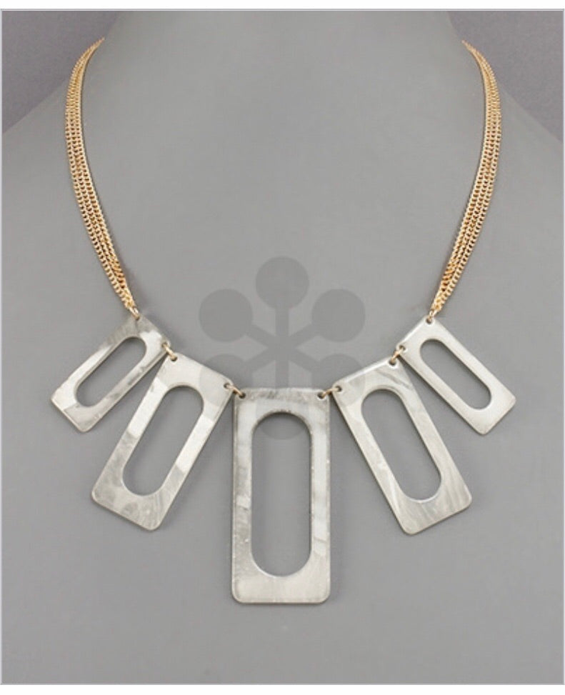 ACRYLIC MULTI RECTANGLE NECKLACE