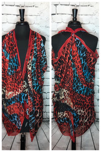 LEOPARD PRINT SCARF-CONVERTIBLE