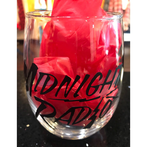 MIDNIGHT RADIO WINE GLASS