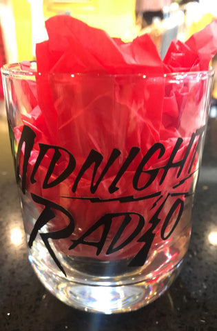 MIDNIGHT RADIO ROCKS GLASS