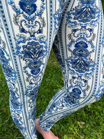 BLUE PRINTED LEGGINGS-REGULAR