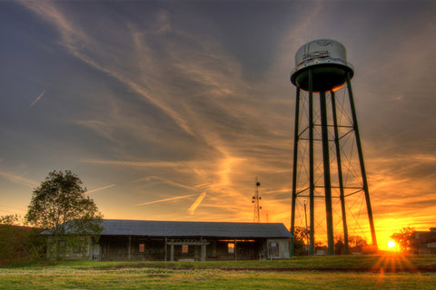 Conway Water Tower Sunset