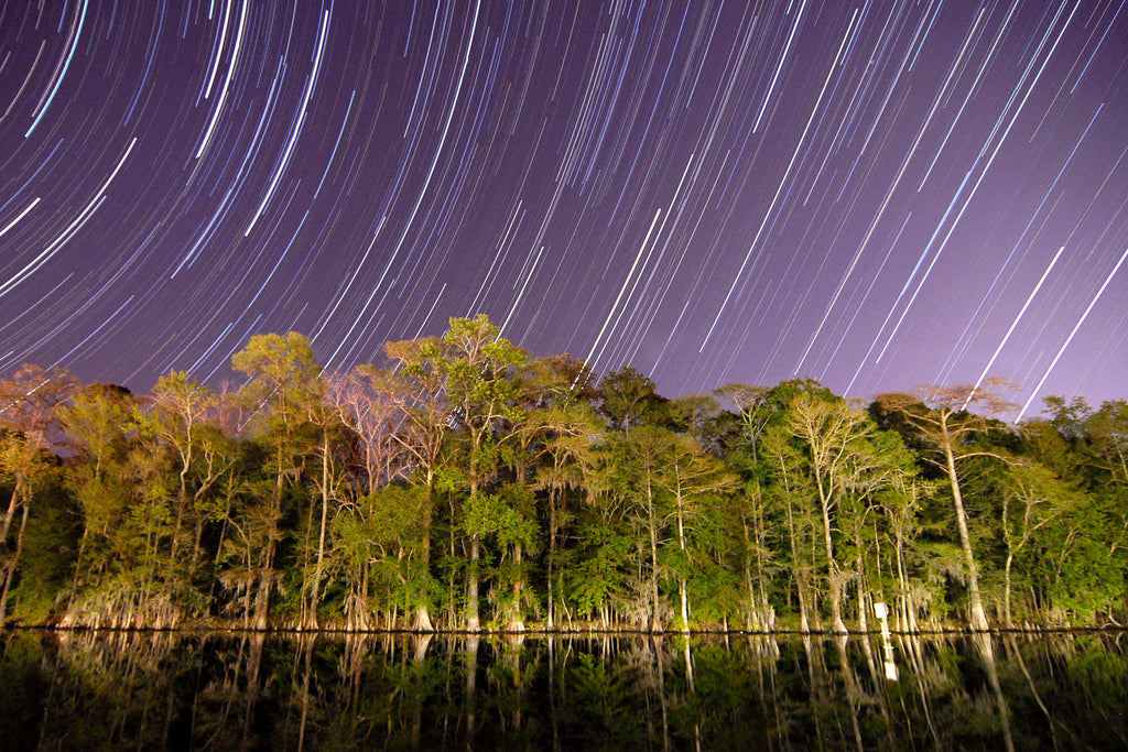 Purple Star Trails