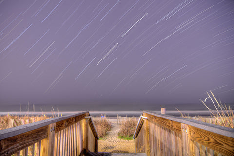 Beach Access Star Trails