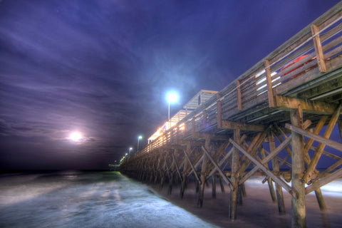 Full Moon at the Pier