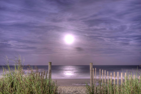 Full Moon on the Beach
