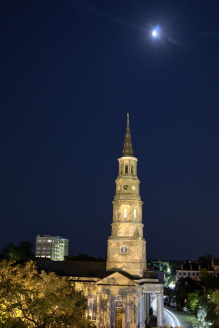Full Moon Above Church