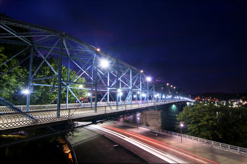 Light Trails Under the Bridge