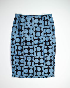 Pencil Skirt-Mod Circles-Granite