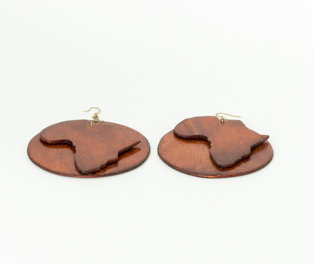 Wooden Motherland Earrings