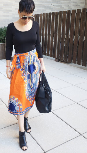 Colorful African Print Wrap