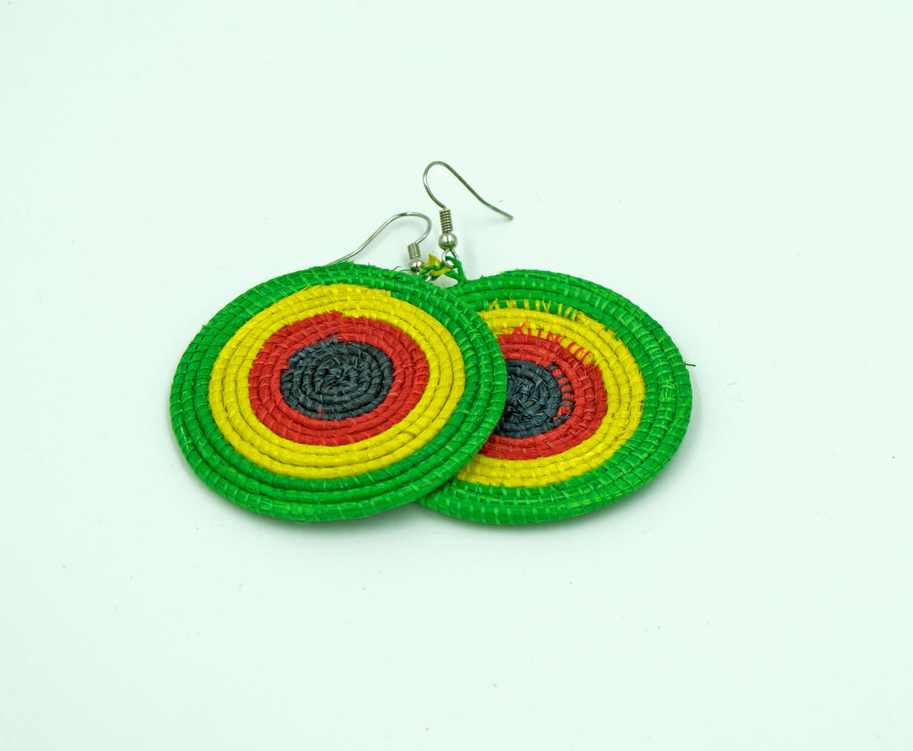 Africa Colors Woven Earrings