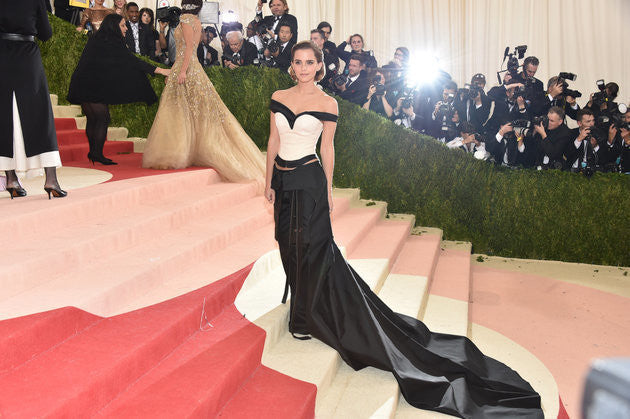 Emma Watson at the Met Gala in a recyclable dress