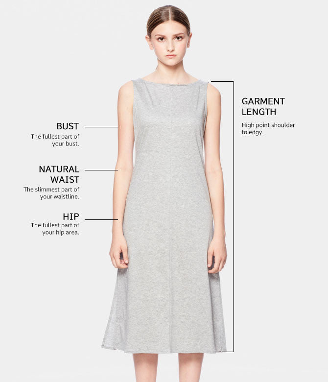 Volla dress Size Chart
