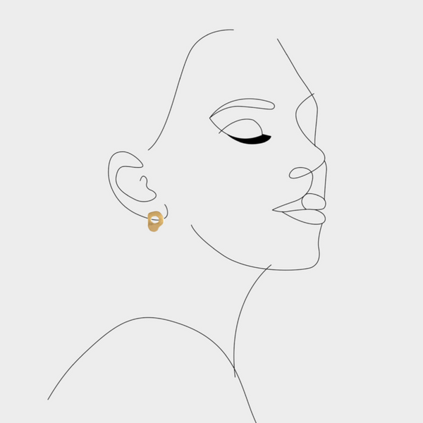 Air earrings Gold