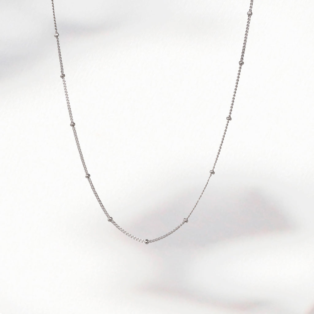 Spheres Necklace_Sterling Silver
