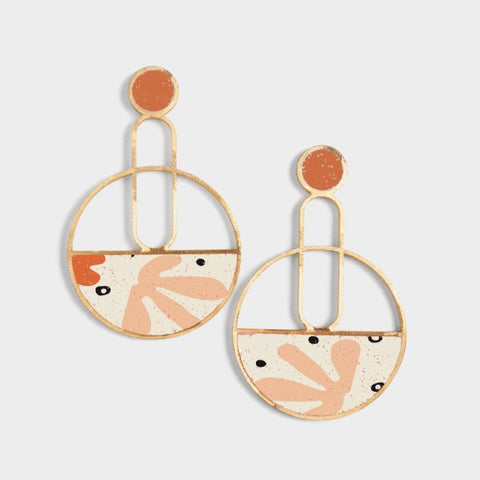 Triangular Abstract Earrings
