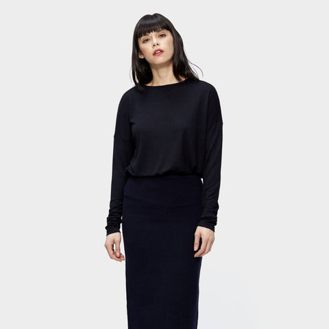Nina Silk Mock neck Top