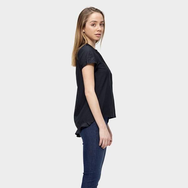 SiiZU. siizu. Freyja Top, tencel, eco clothing, natural clothing, green clothing, luxury clothing, organic clothing, affordable clothing, eco friendly top, silk top, silk , black silk top
