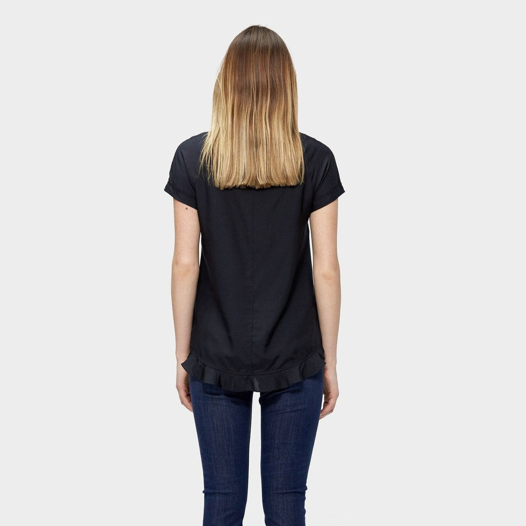 Black silk top, Freyja Top, tencel, eco clothing, natural clothing, green clothing, luxury clothing, organic clothing, affordable clothing, eco friendly top, silk top, silk , cotton