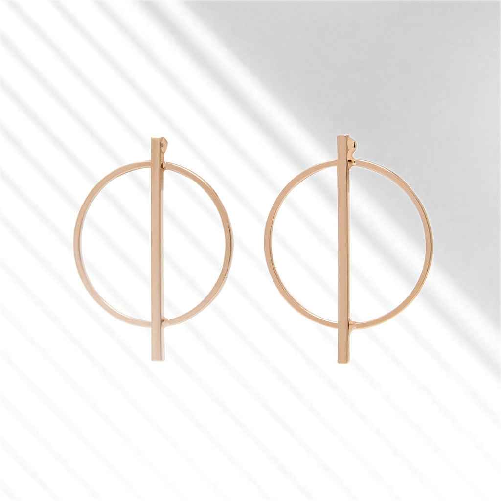 Circle Bar Earrings - SiiZU | sustainable fashion